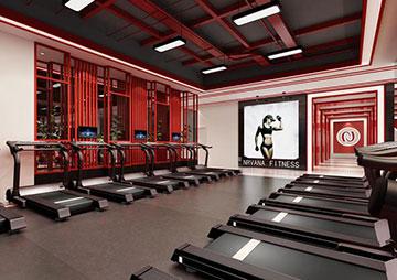 健身会所健身房装修设计案例